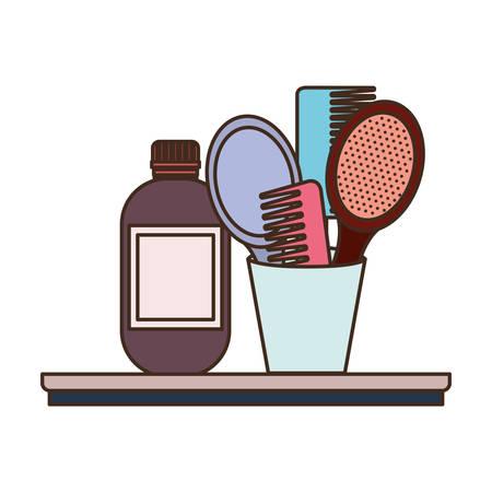 pet grooming set on white background vector illustration design 向量圖像