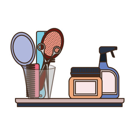 pet grooming set on white background vector illustration design  イラスト・ベクター素材
