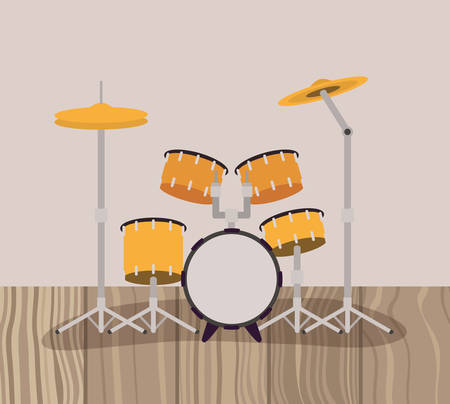 battery drums musical instrument icon vector illustration design Stock Vector - 129565231