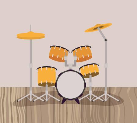 battery drums musical instrument icon vector illustration design Illustration