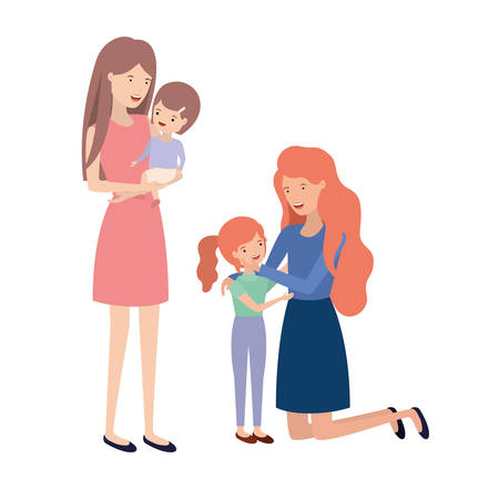 women with children avatar character vector illustration design Фото со стока - 129420742