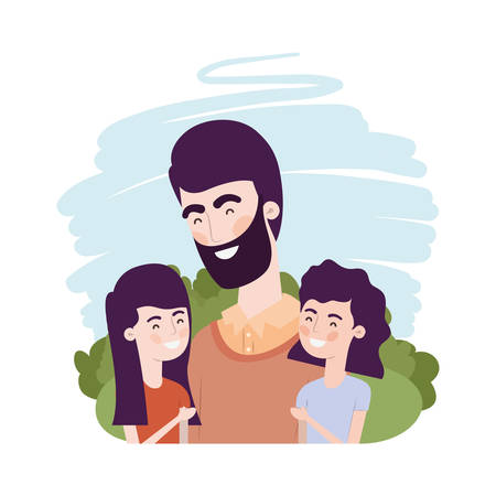 father with children avatar character vector illustration design Фото со стока - 129420992