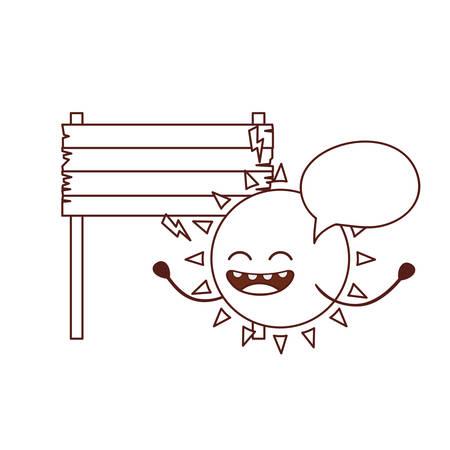 radiant sun isolated icon vector illustration design