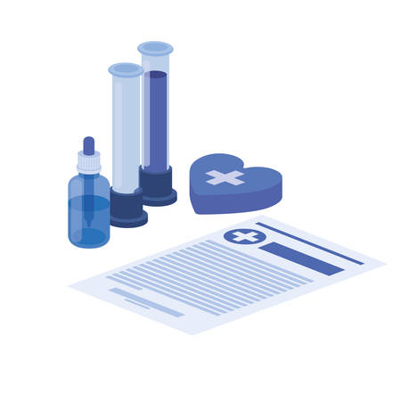 laboratory instruments in white background vector illustration design Illustration
