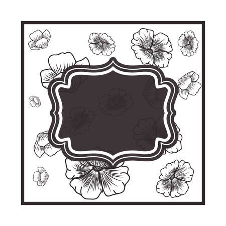 frame with flowers isolated icon vector illustration design Ilustracja