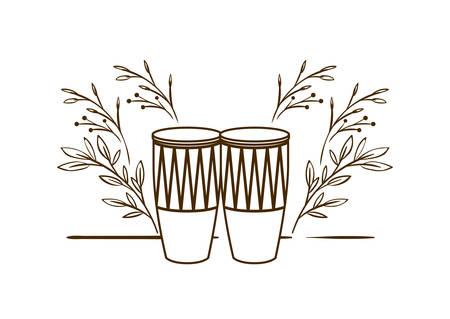 musical instrument congas on white background vector illustration design Stock Illustratie