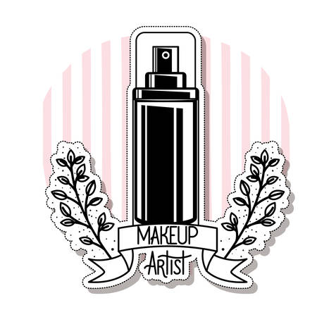 glass bottle of cosmetics product in white background vector illustration design Ilustração