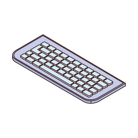 computer keyboard on white background vector illustration design