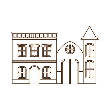neighborhood houses isolated icon vector illustration design Çizim