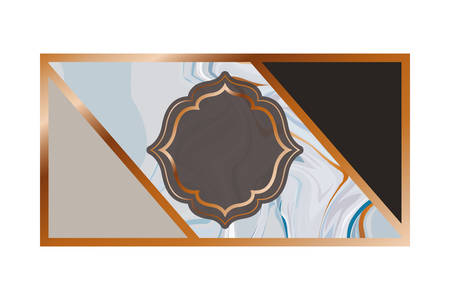 card with marble texture icon vector illustration design Çizim