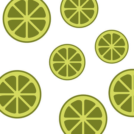 pattern of slice of lemon isolated icon vector illustration desing