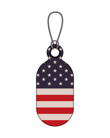 tag with the united states flag icon vector illustration design Illusztráció