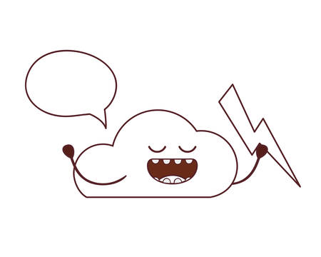 beautiful cloud kawaii isolated icon vector illustration design Illustration