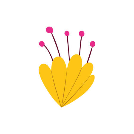 beautiful flowers isolated icon vector illustration design