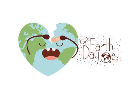 earth day label icon vector illustration design