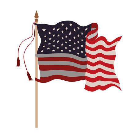 united states flag isolated icon vector illustration design Çizim