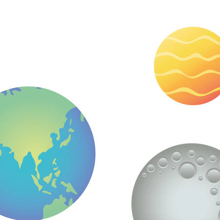 planet of the solar system isolated icon vector illustration design Stock Illustratie