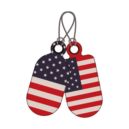 tag with the united states flag icon vector illustration design  イラスト・ベクター素材