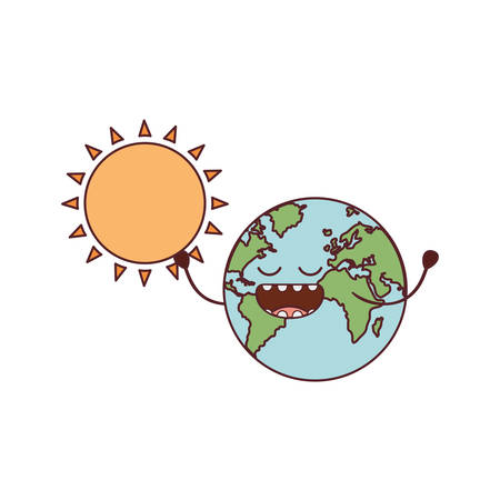 planet earth  isolated icon vector illustration design Stock Illustratie