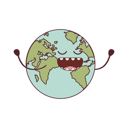planet earth   isolated icon vector illustration design
