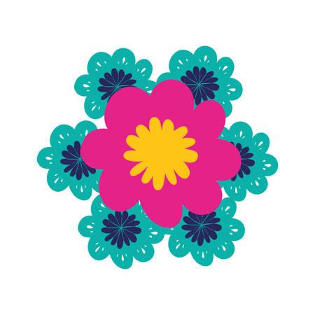 beautiful flowers isolated icon vector illustration design Standard-Bild - 129492131