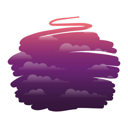 cloudy landscape isolated icon vector illustration design