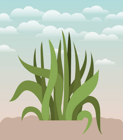 plant of garden planted vector illustration design