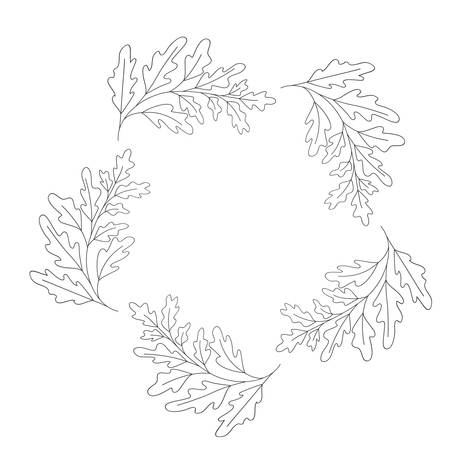 garland with flowers and leafs isolated icon illustration design