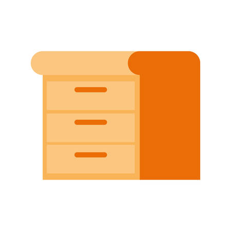 wooden shelving in white background icon vector illustration design Illustration
