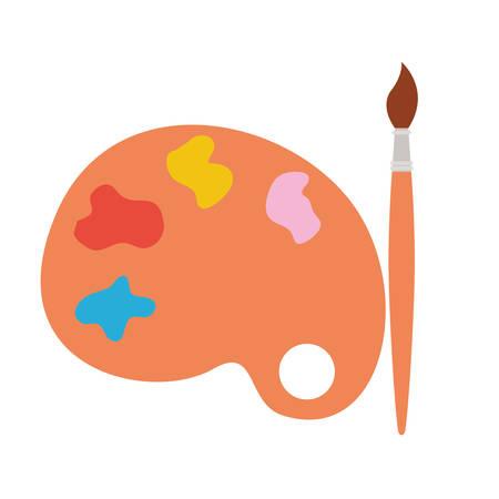 paint pallete and brush isolated icon vector illustration design Illusztráció