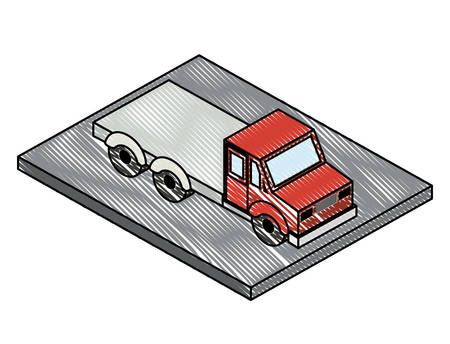 truck transport delivery icon vector illustration design Foto de archivo - 129527532