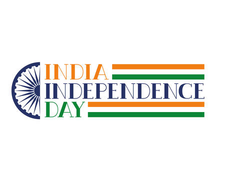celebration of Indian independence day vector illustration design