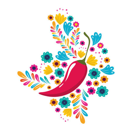 peppers mexican isolated icon vector illustration design  イラスト・ベクター素材