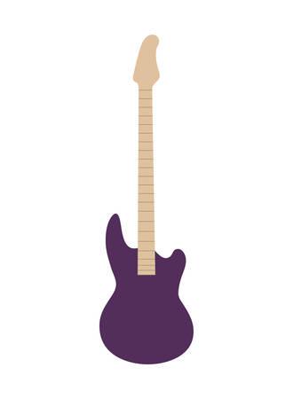 musical instrument electric guitar on white background vector illustration design