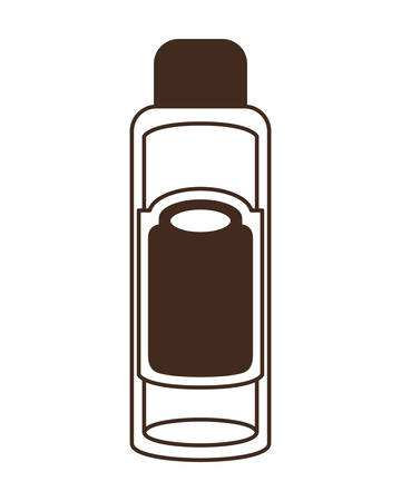 silhouette of pet grooming container on white background vector illustration design
