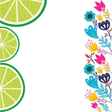 pattern of slice of lemon isolated icon vector illustration design