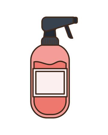 dispenser bottle on white background vector illustration design  イラスト・ベクター素材