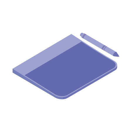 book of school and pen with white background vector illustration design Ilustracja