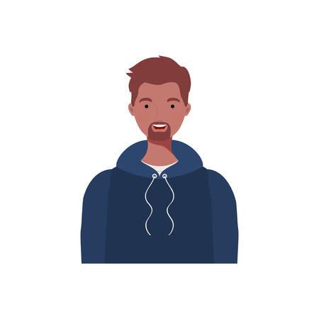 young man on white background vector illustration design Stock Illustratie