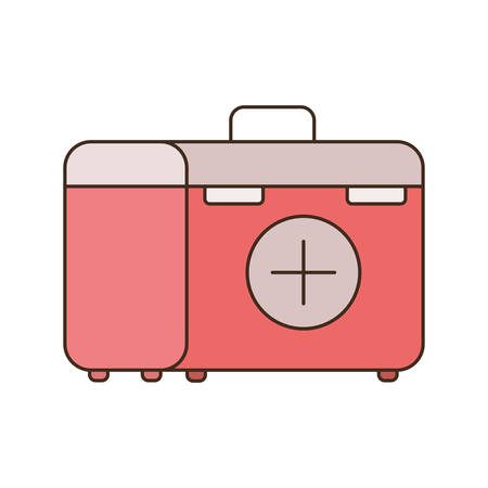 first aid kit on white background vector illustration design Ilustração