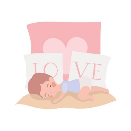 Baby boy design, Child newborn childhood kid innocence and little theme Vector illustration