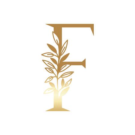 letter of the alphabet of golden color vector illustration design  イラスト・ベクター素材