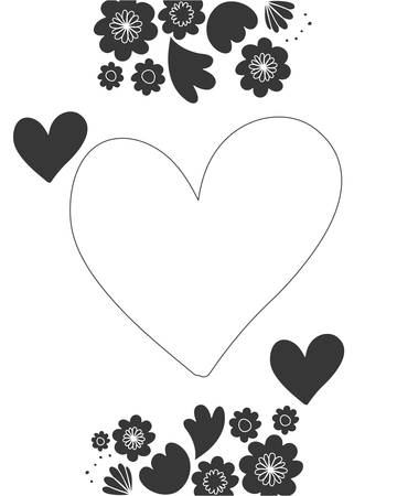frame with flowers and leafs icon vector illustration design 일러스트
