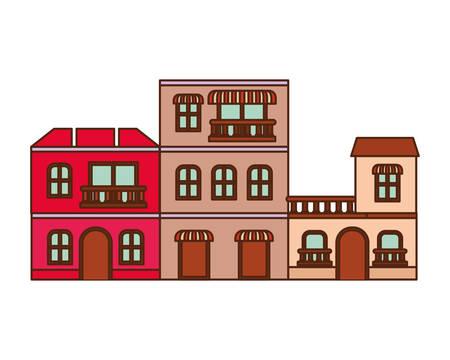 neighborhood houses isolated icon vector illustration design 矢量图像