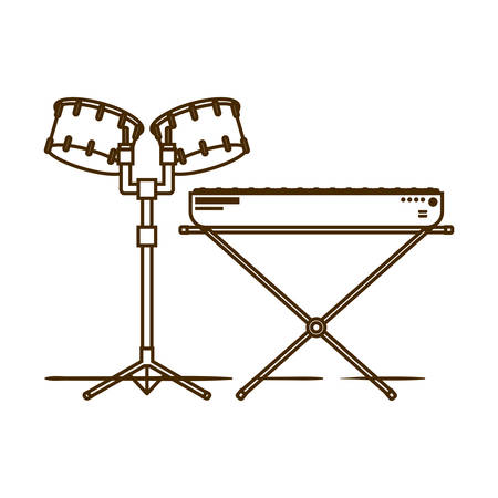 musicals instruments on white background vector illustration design