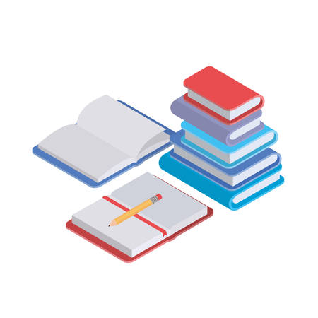 stack of books on white background vector illustration design Ilustrace