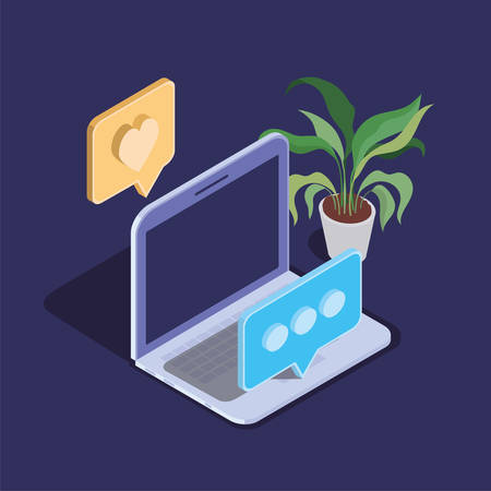 laptop computer technology device icon vector illustration design