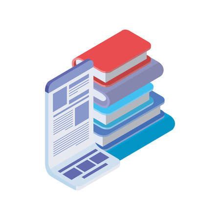 stack of books on white background vector illustration design Фото со стока - 129830713