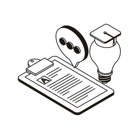 set of icons with curriculum vitae on white background vector illustration design Ilustracja