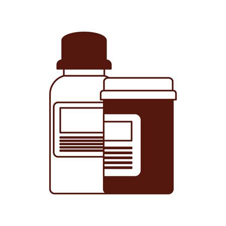 bottle drugs medicine isolated icon vector illustration design Stock fotó - 129795141
